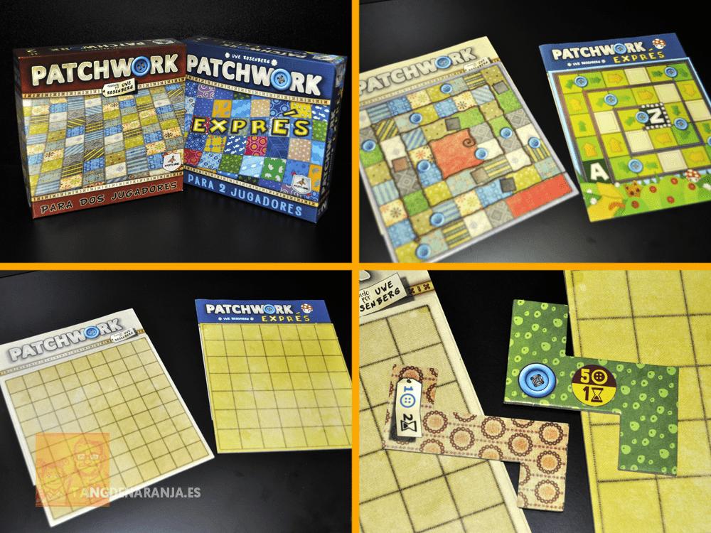 comparación patchwork exprés reseña juego de mesa
