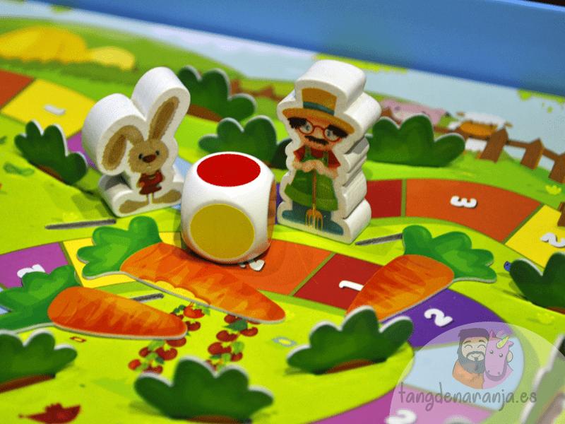 Happy Bunny juego de mesa infantil niños cooperativo conejito mercurio componentes