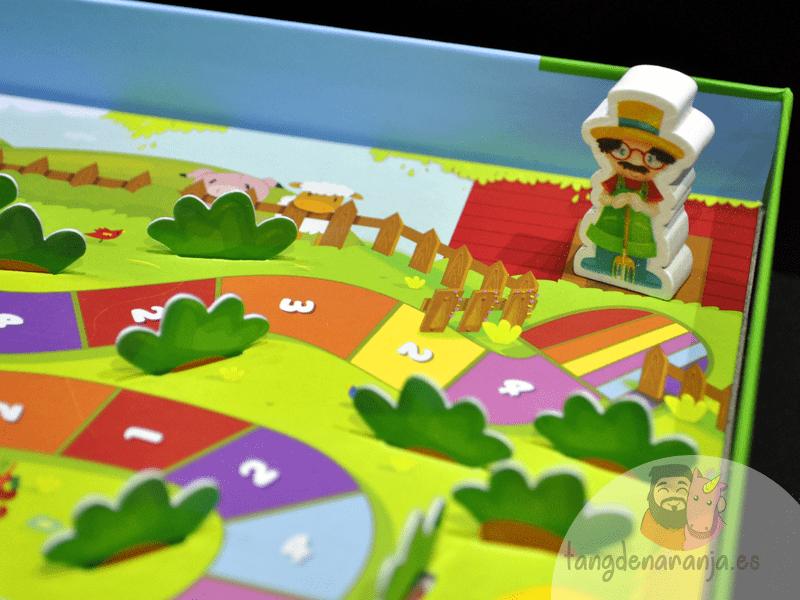 Happy Bunny juego de mesa infantil niños cooperativo conejito mercurio granjero