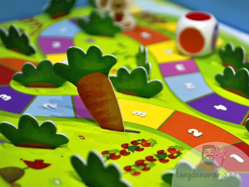 Happy Bunny juego de mesa infantil niños cooperativo conejito mercurio zanahoria