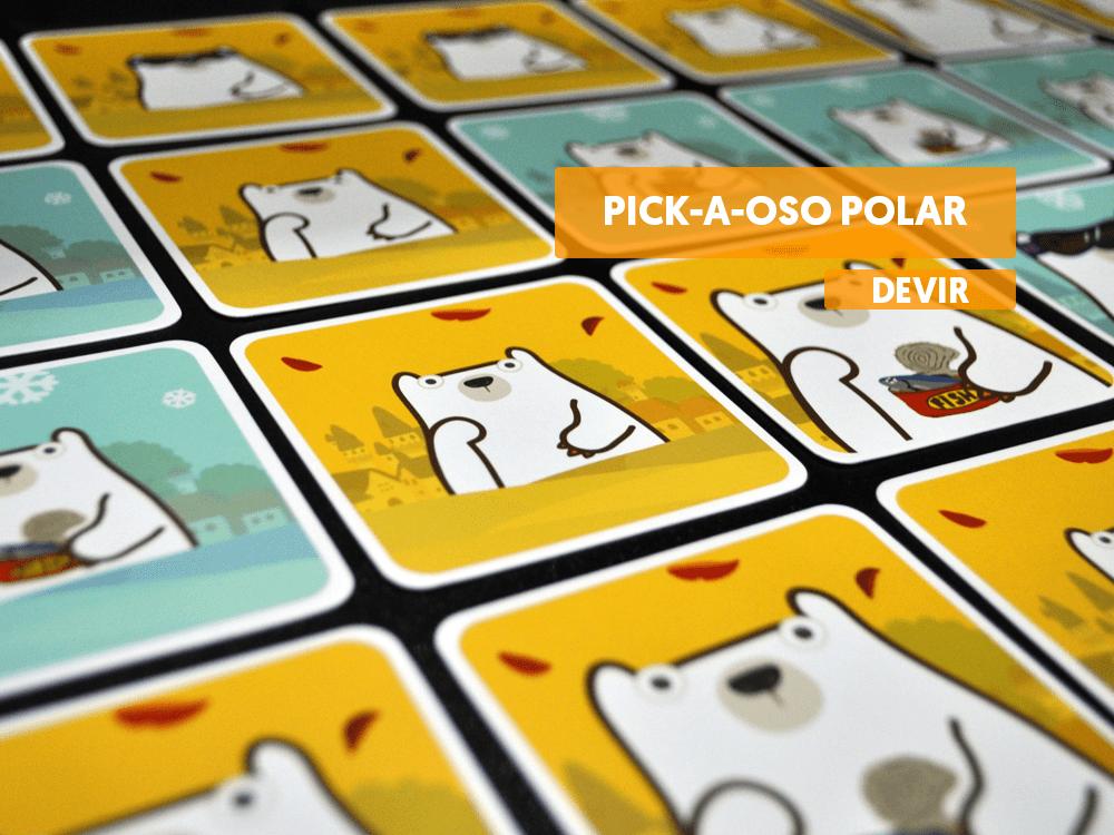Pick a oso polar destacada cartas juego devir