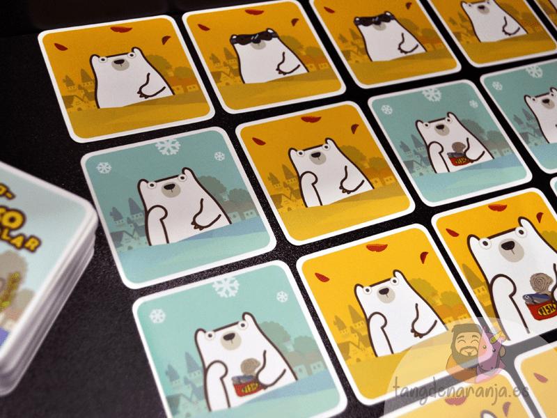 Pick a oso polar setup cartas juego devir