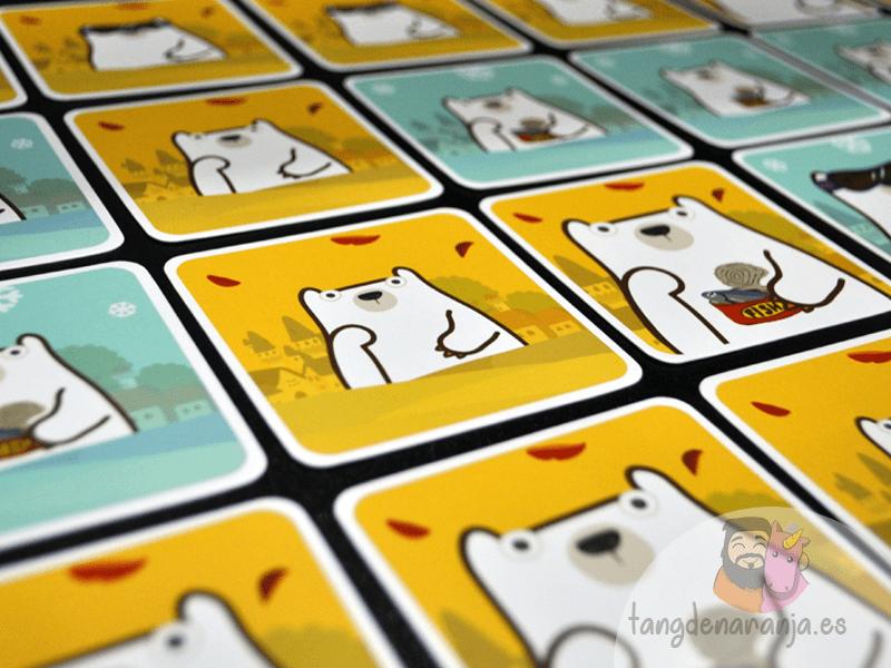 Pick a oso polar setup 2 cartas juego devir