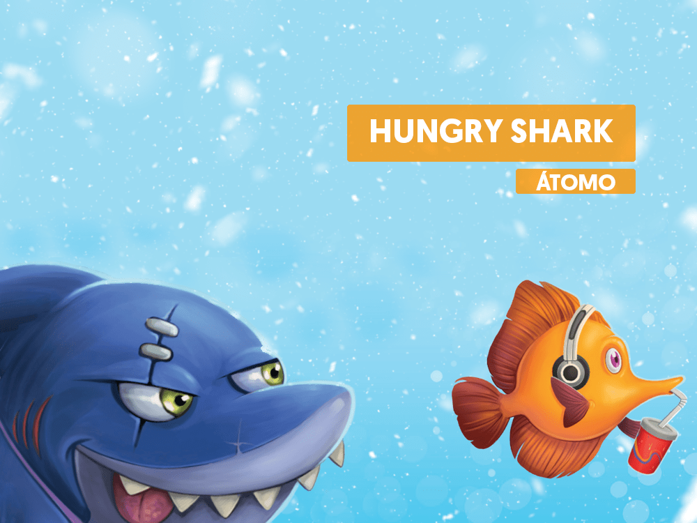 Hungry Shark Juego de mesa infantil tiburones atomo games