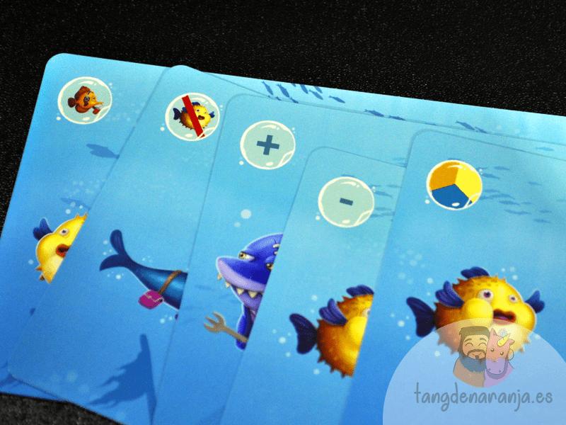 Hungry Shark Juego de mesa infantil tiburones atomo games burbujas