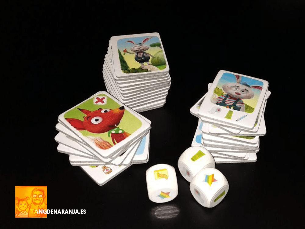 Componentes Little Fox Médico de animales juego de mesa haba reseña como jugar