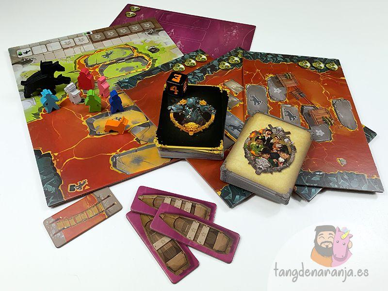 Componentes de Cerbero, el juego de mesa editado por Tranjis Games