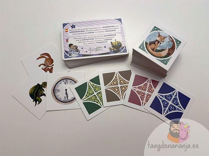 Componentes del juego de mesa Storytelling