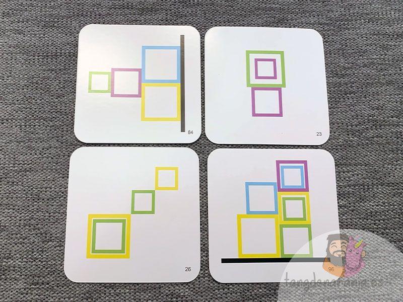 cartas del juego encuadra