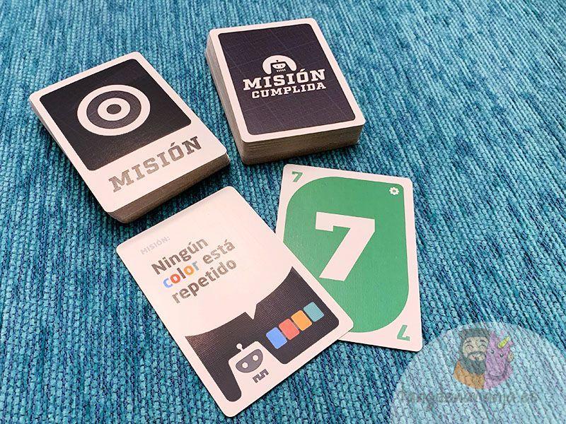 Componentes juego de mesa Misión Cumplida