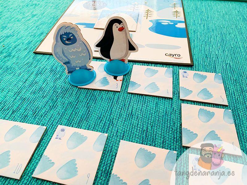 Set up del juego de mesa Pingüi Land - Cayro